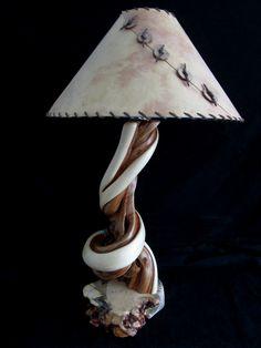Juniper Log Table Lamp #loglamp #woodlamp #juniperlamp #lighting #homedecor #lodge
