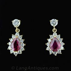 http://rubies.work/0652-ruby-rings/ … Ruby and Diamond Earrings. Click to Enlarge Photo …