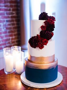 Burgundy and Navy Wedding at The Loft on Pine | Southern California Wedding Ideas and Inspiration