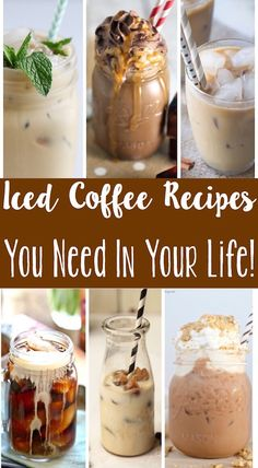 These iced coffee recipes make the perfect afternoon pick-me up, especially on a hot day! Actually - I would drink these in the morning