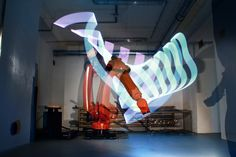 First tests of the Pixelstick attached to a KUKA Robot - Chris Noelle creates stunning fresh Lightpaintings with this method. www.lightwriting.de