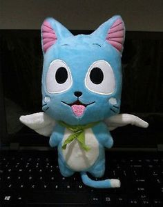 New Cute Happy Cartoon doll Anime Fairy Tail Blue Cat Happy plush toys gift 12'' in Collectibles, Animation Art & Characters, Japanese, Anime | eBay #CatAnime