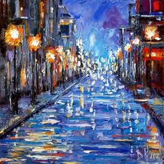 New Orleans oil painting.