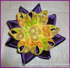 Layers of looped ribbon for a flower hair bow