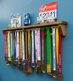 Medal Hanger Wooden Display Shelf Trophies 4 by TheRackShackUK