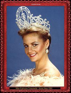 Miss Universo Venezuela - Irene Sáez 1981