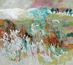 Hans Sieverding, b 1937, German abstracted landscapes painter