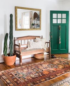 "Love the door, not the cactus 478 Likes, 35 Comments - Canary Lane (@canary_lane) on Instagram: ""One of my best babes @carlaypage styled our 'Clark' rug in her entryway this weekend when we…"""
