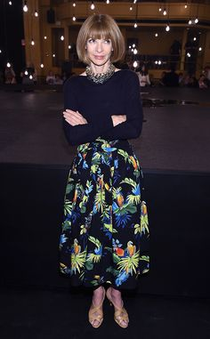Anna Wintour from The Big Picture: Today's Hot Pics The fashion legend attends the Marc Jacobs Spring 2017 fashion show during New York Fashion Week in NYC.