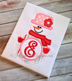 Snowgirl+Machine+Embroidery+Applique+Design+by+HappytownApplique,+$4.00
