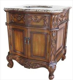 "legion furniture york 36"" antique single sink bathroom vanity"