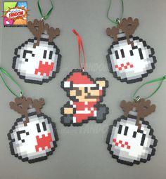 Super Mario ornements ensemble  Mario père Noël et par MadamFANDOM