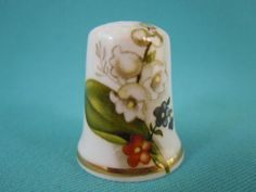 Thimble-Bone-China-with-Lily-of-the-Valley-Flowers