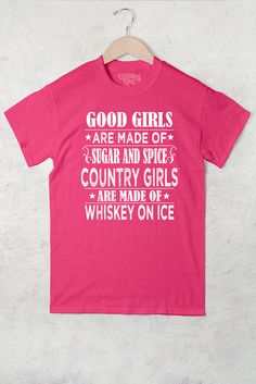Hot Pink - Women's Country Girl® Sugar & Spice Full Figure Tee