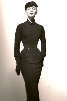 Model in Dior Dress 1952    Photo by Henry Clarke
