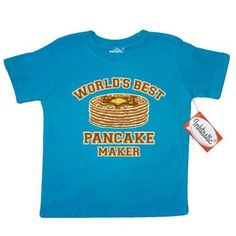 Inktastic Best Pancake Maker Toddler T-Shirt Pancakes Worlds Breakfast Hot Cakes Stack Of Butter Syrup Pinkinkartkids Food Drinks Chef Cook Kitchen Coffee Tees. Gift Child Preschooler Kid Clothing Apparel, Size: 3T, Blue