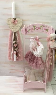Baptism Clothes, Baptism Outfit, Goddaughter Gifts, Baby Hamper, Daughter Of God, Easter Ideas, Christening, Candles, Crafty