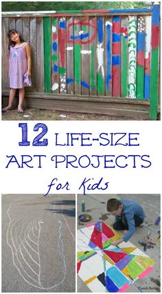 Awesome ideas for giving kids BIG creative fun -- both art activities and life-size backyard games to play!