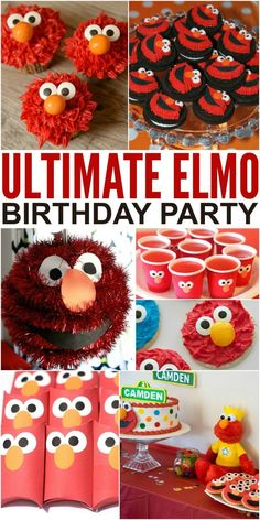 How to Throw the Ultimate Elmo Birthday Party to please any toddler on their birthday. Toddlers and preschoolers love Elmo, and so an Elmo themed birthday party is a natural choice. Check out these 25 ideas that will help you throw an amazing Elmo themed Elmo Party, Lila Party, Sofia Party, Mickey Party, Dinosaur Party, Dinosaur Birthday, Elmo First Birthday, Boy Birthday Parties, Birthday Fun