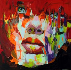 Palette knife painting portrait Palette knife Face Oil painting Impasto figure on canvas Hand painted Francoise Nielly Tag Street Art, Cheap Paintings, Colorful Paintings, Art Paintings, Portrait Paintings, Painting Art, Graffiti Art, Expressionist Portraits, Collages