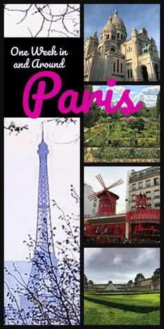 Spend one week exploring the main sights in Paris, France including day trips to Versailles, Giverny and Brugge.