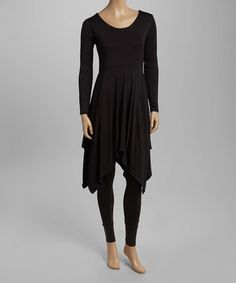 Loving this Black Sidetail Tunic on #zulily! #zulilyfinds