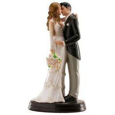 Figurine Cake Wedding Maria and Juan 7 - Dekora for sale online Trendy Wedding, Fall Wedding, Dream Wedding, Wedding Cake Toppers, Wedding Cakes, Wedding Silhouette, 25th Wedding Anniversary, Wedding Bells, Wedding Decorations