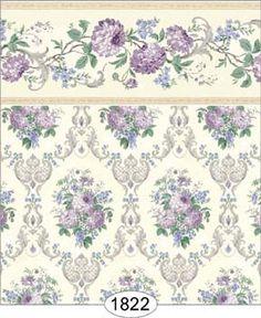 Wallpaper - Chrysanthemum Filigree - Purple [WAL1822] - $0.00 : itsy bitsy mini, Wholesale & Retail Dollhouse Wallpaper & Accessories
