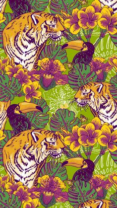 ↑↑TAP AND GET THE FREE APP! Art Creative Flower Nature Animals Birds Tigers Flowers Multicolor HD iPhone 6 Wallpaper