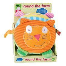 Alex Jr. Round the Farm Baby Toy by Alex Jr.. $9.99. From the Manufacturer                Alex Jr. a line of bright and bold infant plush and developmental toys that are designed for baby's first year of life. Alex Jr. offers toys that foster imagination, provide visual and tactile stimulation and encourage language development. Our signature loops and knots are key features that not only stimulate sight and touch, but also help baby master motor skills and dexterity. They are a...