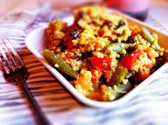 Moroccan Couscous with Black Eyed Peas