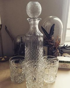 New decanter set from @coreymcollins  all the way from Bulgaria! #decanter #vintage by laviedenoir