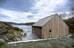 Architecture : Amazing boathouse design ideas with wooden structure and outdoor lounge all made of wooden natural picture - a part of Astounding contemporary house design ideas with vigorous and sturdy wooden style