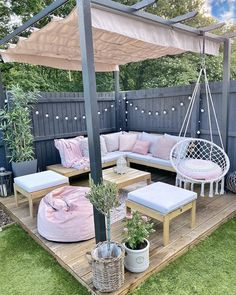 Outdoor Projects, Outdoor Decor, Outdoor Patio Decorating, Outdoor Living, Indoor Outdoor, Outdoor Swings, Patio Decorating Ideas On A Budget, Outdoor Gazebos, Porch Swings