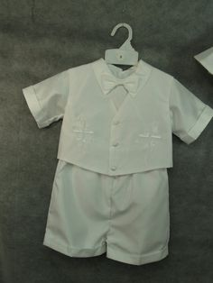 Hey, I found this really awesome Etsy listing at https://www.etsy.com/listing/165276538/boys-baptism-shorts-outfit-white-4