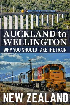 Northern Explorer Train from Auckland to Wellington is a beautiful journey not to be missed. Take the train across North Island New Zealand. Planning a trip to New Zealand? One of the top things to do in New Zealand is travel with KiwiRail from Wellington and Auckland in the North Island.