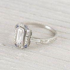 Art Deco Engagement Ring Diamond Engagement Ring Vintage