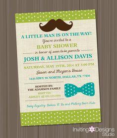 Boy Baby Shower Invitation Little Man by InvitingDesignStudio, $18.00