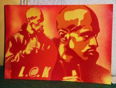 painting on paper of rakim by daystencil by AbstractGraffitiShop, $20.00