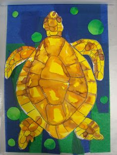 Once upon an Art Room: Laminated Ink Turtles