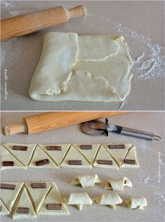 Cele mai simple cornulete cu ciocolata Focaccia Bread Recipe, Romanian Food, Bread And Pastries, Diy Food, Cake Cookies, Sweet Recipes, Icing, Bakery, Easy Meals