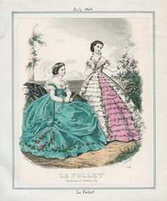 Le Follet July 1866 Casey Fashion Plates Detail | Los Angeles Public Library
