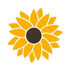 2 Color Sunflower Hippie Flower Power Vinyl Sticker Decal LilBitOLove ($5.69) via Polyvore featuring home, home decor, hippie home decor, vinyl home decor and hippy home decor