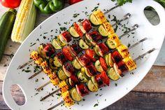 Grilled Kielbasa Skewers #sausage #grilled #kielbasa #skewer #Skewers #justapinchrecipes Kabob Recipes, Grilling Recipes, Pork Recipes, Cooking Recipes, Sausage Recipes, Grilled Kielbasa, Grilled Meat, Grilled Sausage, Fried Zucchini Recipes