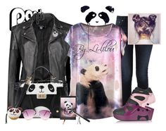 """""""Galaxia Panda"""" by li-lilou ❤ liked on Polyvore featuring Nudie Jeans Co., Boohoo, Puma and Steve Madden"""