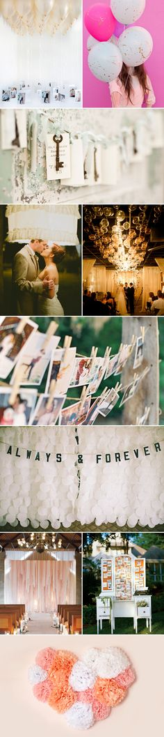 48 Creative Handmade Wedding Details - Venue Decoration