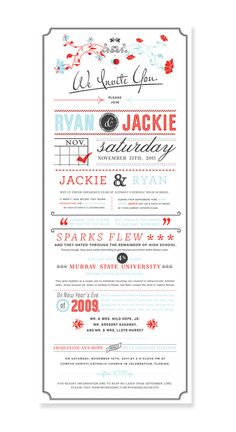 invitation poster, very creative