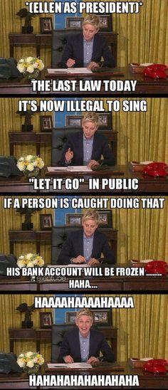 Ellen is generous :D
