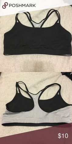 Gap Sports Bra - Reversible! Tag is cut out because it's reversible gray and black. Like new! GAP Intimates & Sleepwear Bras