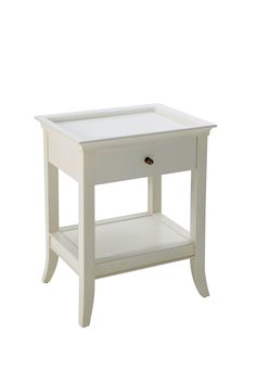 Hampton Bedside 1 Drawer - White